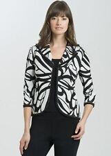 Ming Wang Black White Knit Jacket L