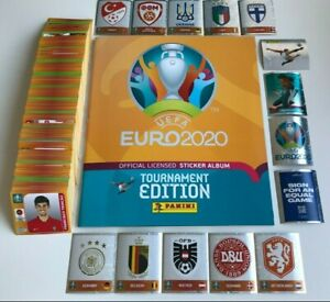Panini EURO EM 2020 2021 Tournament Edition - Komplett Alle 678 Sticker + Album