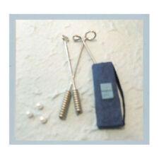 3 X Metal palos de golf, Bolas Y Bolsos-Mulberry Paper Macho adornos de tarjeta