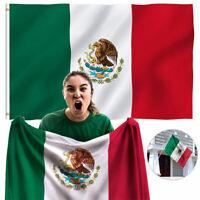 Bandera de Mexico Grande Chida Cinco de Mayo para Viaje Conciertos Poliester 3x5