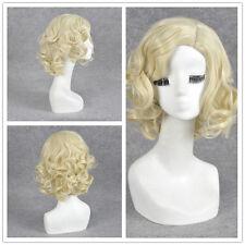 Harry Potter Rita Skeeter Cosplay Wig short Curly platinum blonde hair Wigs