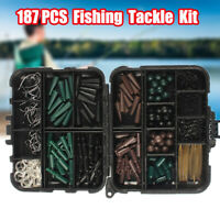 UK Sea Fishing Tackle Set Boxed ,Make Up To Rigs Swivels Beads Bait Clips Link