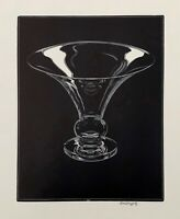 ASA CHEFFETZ - 'REFLECTION IN CRYSTAL', signed wood engraving, Woodcut Soc. 1946