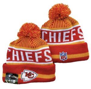 Kansas City Chiefs Beanie Hat Winter Outdoor Cap Acrylic Knit NFL Football