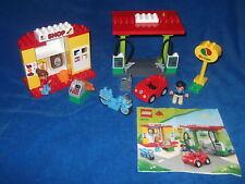 LEGO Duplo 6171 Tankstelle Shop Laden Auto Motorrad Geschäft Tanke KOMPLETT + BA