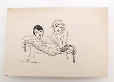 1927 Estonia ART NOUVEAU Original INK Vintage DRAWING  #4