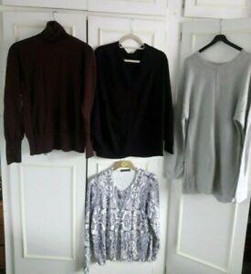 **WALLIS, MARKS & SPENCER**  brown, grey, black & white jumper/cardigan -Size 16