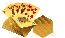 Luxury Gold Foil Waterproof 54 Playing Cards Set for Poker Bridge Rummy