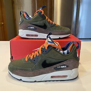 Mens Nike AIR MAX 90 SNEAKERBOOT PREMIUM Shoes Boots -616113 302 -Sz 8 -New