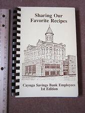 Cookbook Auburn NY Cayuga Savings Bank Recipes Contributor's Names 1970's