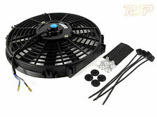 "379mm 14"" Slim Radiator Fan Push/Pull Slim 14 Inch Kit Car Project Track 4x4 BN"