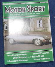 Motor Sport April 1986 E-type, Alfa 33, Mazda RX-7, Maserati 250F