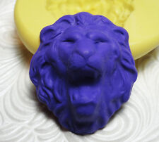 Silicone Resin Polymer Clay Fondant Flexible Push Mold LION FACE 6021