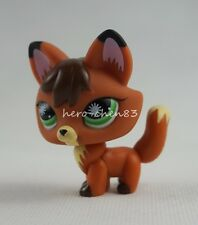 Littlest Pet Shop LPS #807 Fox Orange Brown Black Green Eyes Girl Toys Gift