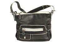 22B Tosca Blu Designer Damen Tasche Leder schwarz weiß Handbag Außentaschen