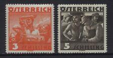 Austria 1936 Workers Sc #378 - 379 Mnh Og Cv $85