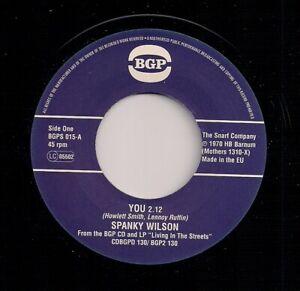 "70's FUNKY NORTHERN 7"" 45 SPANKY WILSON - YOU / SUNSHINE OF YOUR LOVE - UK BGP"