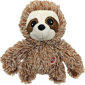 """Spot Ethical 7"""" Plush Fun Sloth Dog Toy Play Toss Fetch squeaker -- Colors vary"""
