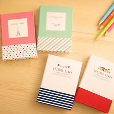 Diary Cute Pocket Planner Blank Paper Notebook + Sticky Notes + Pen