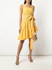 NWT Cynthia Rowley Dahlia Yellow Purple Lakers Sundress Wrap Belt S