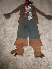 Disney Store Jack Sparrow Pirate Costume childs Large 10/12 New
