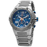 Invicta Speedway Chronograph Blue Dial Stainless Steel Men's Watch 19527