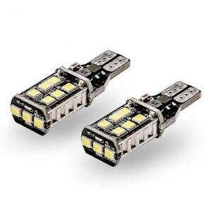 Ampoule T15 W16W 15 SMD Blanc 6000K Feux de recul frein stop Veilleuse Canbus