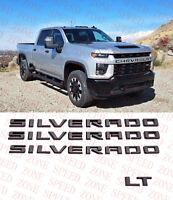 2019-2021 Chevrolet Silverado Door Silverado Matte Black Emblem OEM LT