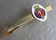 VINTAGE TIE CLASP CLIP 1970s 1980s MOD METAL SKATING MOTIF EMBLEM ENAMEL DESIGN