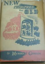 New Theatres for Old- Mordecai Gorelik, 1940/first/signed card and note