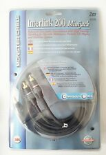 RCA TO MINI-JACK CABLE MONSTER INTERLINK 200 STEREO 24K GOLD PLATED