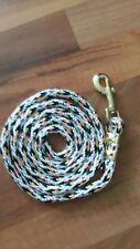 Nylon Poly Miniature Horse Pony dog Lead Rope Usa Made-multi/white