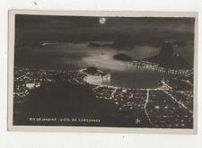 Rio De Janeiro Brazil Vista Do Corcovado Vintage RPPC Postcard US020