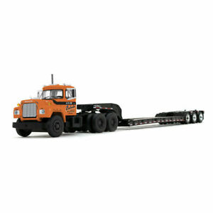 FIRST GEAR/DCP JV III CONSTRUCTION MACK R DAY CAB w/TRI-AXLE LOWBOY TRL. 1/64