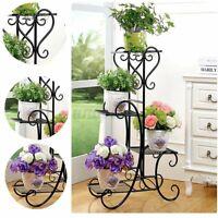 4 Tiers Metal Plant Stand Flower Pot Display Shelf Rack Home Garden In/Outdoor