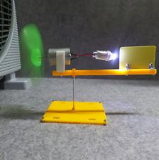 Micro Wind Turbines Generator LED DC Motor Blades w/ holder DIY Project kit