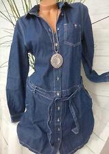 Kleid Jeanskleid Optik Cheer Gr NEU 34 bis 40 Blau Lyocell 550