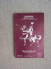 1983 Lebanon Kentucky Hometown Phone Book Directory Campbellsville Marion Cty  T