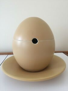 Environmental Ceramics egg shaped tureen covered dish with charger