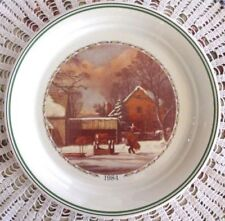Corelle Corning THE FARMERS HOME Christmas Series Collectors Plate Mint