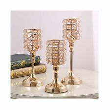 Crystal Glass Candle Tea Light Holder Candlestick Wedding Arrangement Decoration