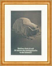 Meistgekaufte Auto in der Schweiz: VW Käfer Werbung Kunstdruck Plakatwelt 344