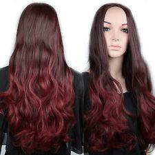 "US Seller 15%off Half Wig Lady Women 25"" 3/4Full Head Synthetic Long Hair Wig L1"