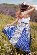 137298 NWD Free People Show You Off Printed Asymmetrical High Low Skirt S US