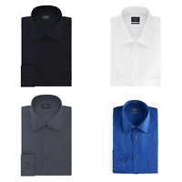 Men's Arrow Long Sleeve Textured Solid Dress Shirt | Regular Fit | New | $40