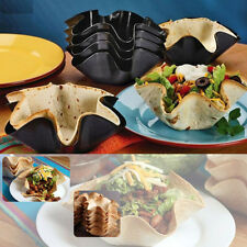 "6"" TACO Salad Bowl Nonstick Tortilla Pan Press Baking Tostada Mold Tool Black"