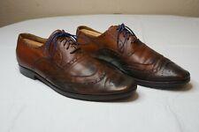Dolce & Gabbana Wingtip Brogues Brown Leather Mens Size EU 44 45 US 11.5 /12
