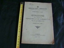 MANUALE ISTRUZIONI PERSONALE DI CONDOTTA LOCOMOTIVE 1930 FS TRENO VAPORE HO H0