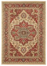 The Rug House Windsor Red Traditional Soft Warm Non Shed Classic Medallion...
