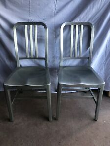 General Fireproofing Vintage Brushed Aluminum Chair Dining Retro #4295 GoodForm